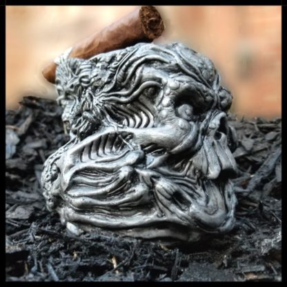 inferno cigar ashtray side view