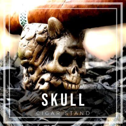 Skull Cigar Stand