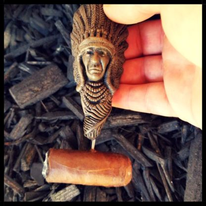 Indian Cigar Nubber With Cigar