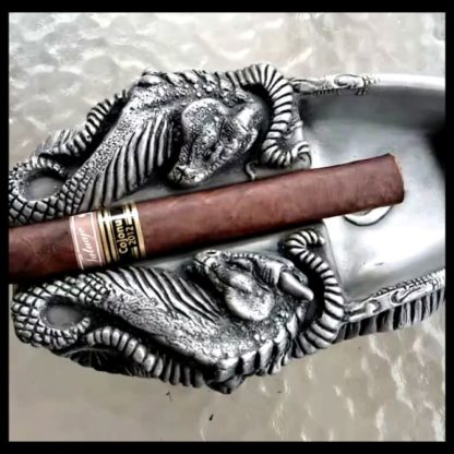 Dragon Cigar Ashtray Aluminum Finish